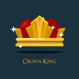 Tiara do papa ou rei, ícone real da coroa da rainha Fotos de Stock