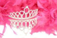 Tiara e boa Imagens de Stock Royalty Free