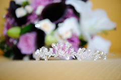 Tiara and flowers Royalty Free Stock Photo