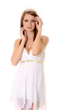 Tiara Girl Isolated Stock Images