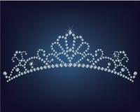 Tiara made a lot of diamonds Stock Image