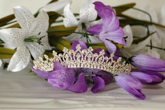 Tiara met bloemen Royalty-vrije Stock Foto's