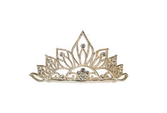 Tiara op wit Royalty-vrije Stock Fotografie