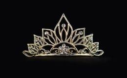 Tiara op zwarte Royalty-vrije Stock Fotografie