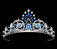 Tiara with sapphires Stock Photo