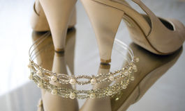 Tiara and shoes Royalty Free Stock Photo