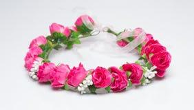 Tiara sztuczne róże na lekkim tle Zdjęcie Royalty Free