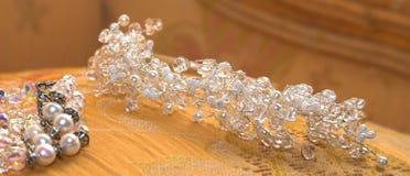 Tiara y pulsera de la boda Imagen de archivo libre de regalías