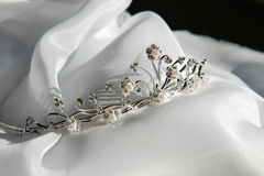 tiarabröllop Fotografering för Bildbyråer