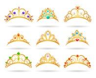 Tiaras de oro de la princesa con los diamantes libre illustration