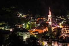 Tiarno di Sotto by night Stock Photography