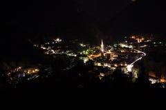 Tiarno Di Sotto nocą Zdjęcie Royalty Free