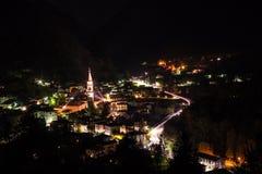 Tiarno Di Sotto nocą Zdjęcie Stock