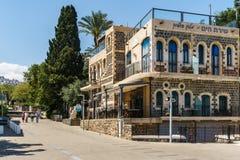 Tibériade, Israël - 31 mars 2018 : Vue de rue dans la vieille ville de Tibériade Israël photographie stock libre de droits