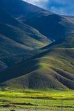Tibétain montagneux d'horizontal image stock