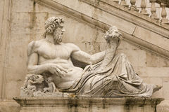 Tiber as a god. Campidoglio, Rome. Stock Photo