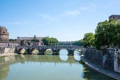 Tiber bridge Royalty Free Stock Photo