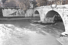 Tiber bridge Royalty Free Stock Images