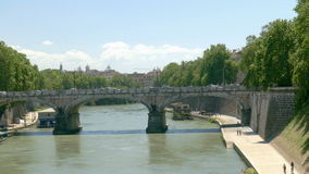 Tiber bridge stock video