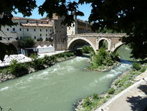 Tiber flod. royaltyfria foton