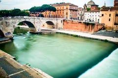 Tiber flod Fotografering för Bildbyråer