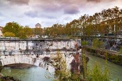 Tiber flod Rome, Italien fotografering för bildbyråer