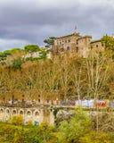 Tiber flodRome Cityscape Royaltyfria Bilder