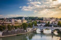 Tiber-Fluss in Rom Italien Stockfotografie
