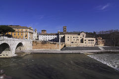 Tiber Island Royalty Free Stock Image