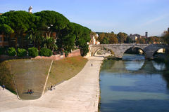 Tiber island Stock Photography