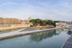 Tiber Island in Rome Stock Images