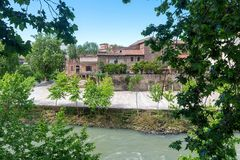 Tiber island - Tevere river - Rome - Italy. View of Tiber island - Tevere river - Rome - Italy royalty free stock image