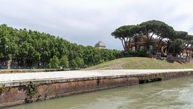 Tiber island - Tevere river - Rome - Italy. View of Tiber island - Tevere river - Rome - Italy royalty free stock photos