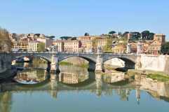 Tiber river. In Rome, Italy royalty free stock photos