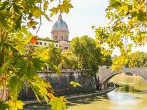 Tiber River Embankment, Rome Stock Images