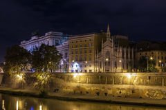 Tiber River embankment, Rome Royalty Free Stock Images
