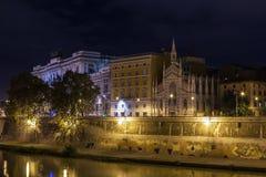 Tiber River embankment, Rome Royalty Free Stock Images