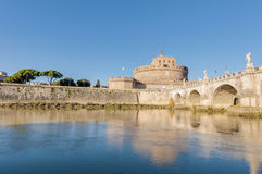 The Tiber river, passing through Rome. Royalty Free Stock Photography
