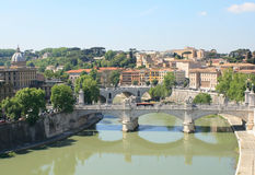 Tiber River in Rome. Stock Photos
