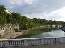 Tiber river Rome Royalty Free Stock Image