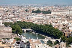Tiber river and Rome Royalty Free Stock Images