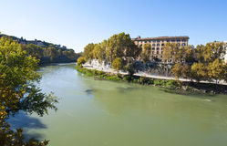 Tiber River, Rome Stock Images
