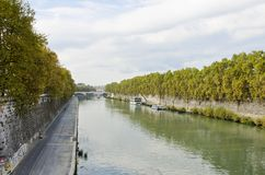 Tiber river in Rome. Italy royalty free stock photos