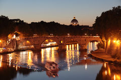 Tiber river in Rome Stock Images