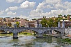 Tiber River in Rome. Bridge over Tiber River in Rome, Italy stock image