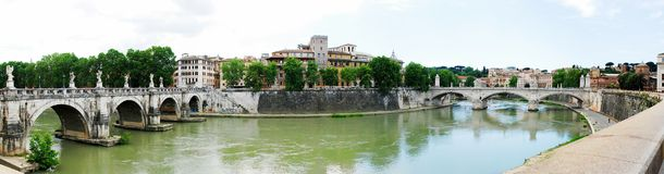 Tiber river and Rome city view on May 30, 2014 Stock Photo
