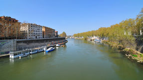 Tiber river in Rome, Italy Stock Photography