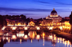 Tiber River in Rome - Italy Royalty Free Stock Photos