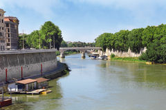 Tiber River, Rome, Italy Royalty Free Stock Photos