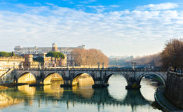 Tiber River in Rome, Italy Royalty Free Stock Photos